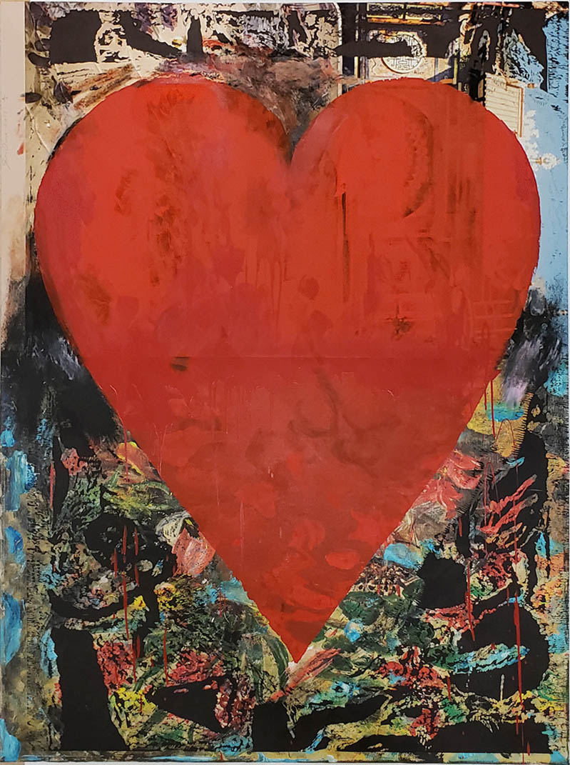 Jim Dine heart print with big red heart
