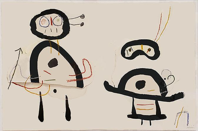 David Hockney print showing art room with trollies