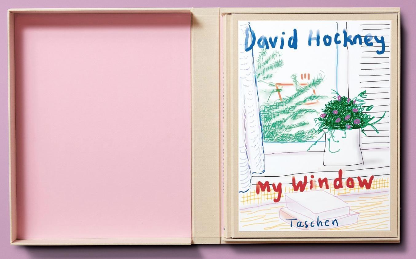 David Hockney pink Taschen Book My Window