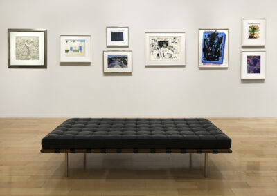 """Head-On Installation Image of works in """"On Paper"""" Exhibition of 8 framed works"""