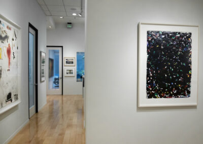 """Installation Image of works in """"On Paper"""" Exhibition by Sam Francis and Jim Dine"""