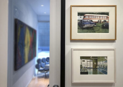 """Installation Photo of Photorealism Works in """"On Paper"""" Exhibition"""