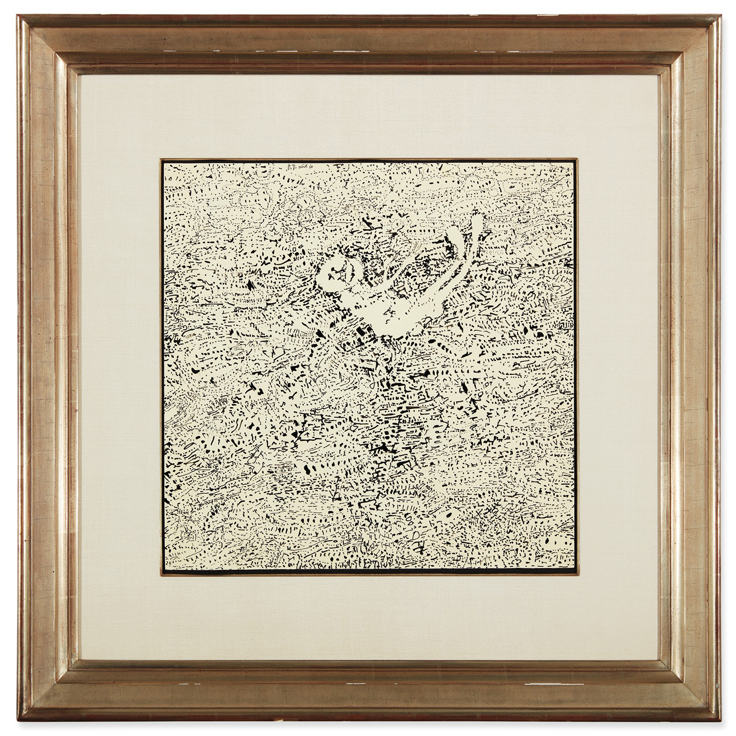 framed image of Jean Dubuffet's Paysage Couche